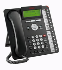 IP-телефон AVAYA 1616 (черный) IP PHONE AVAYA 1616 BLK (с БП)